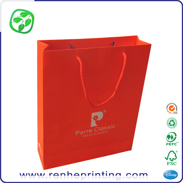 color medicine paper packing bag printed, retail carrying paper printed bag