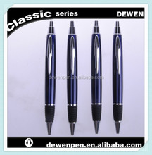 dewen metal aluminum rubber gripper cross refill ballpoint promotional pen