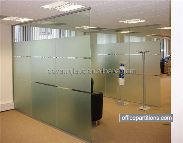 Decorative panel tempered partition glass office glass walls prices