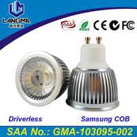 Langma hotel High Quality 6w ceiling spot light led gu10 3000k Samsung cob dimmable spotlight 4 years warranty SAA certified
