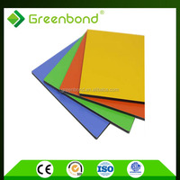 Greenbond aluminum composite building panels high gloss coating for ceiling materials