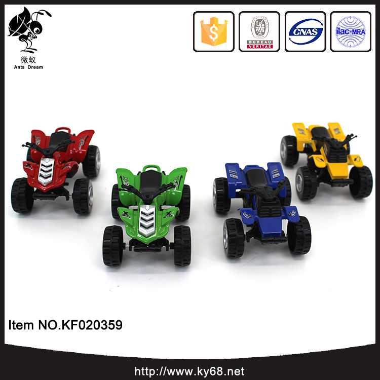 4 color small toys pull back beach diecast motorcycle model for children
