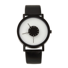 Korea Fashion Beautiful Desgin Black White Personalized Creative Women Men Fancy Watch