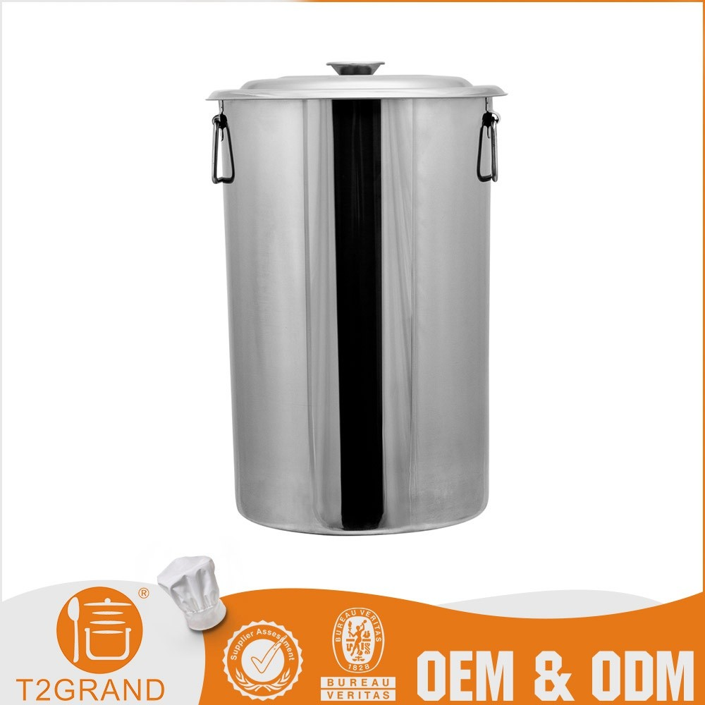 Durable Custom Liter stainless Steel Milk Barrel With Active Ears And Lid