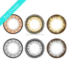 New Designed Color Lens Diamond Black Ring Cheap Eyewear Soft Yearly Disposable Circle Lenses Charming Ice Sparkle Contact Lens