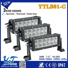 Anti-vibration 36w auto led flood light bar 12v led offroad light bar 4x4 Spot light bar for 400cc 4x4 atv