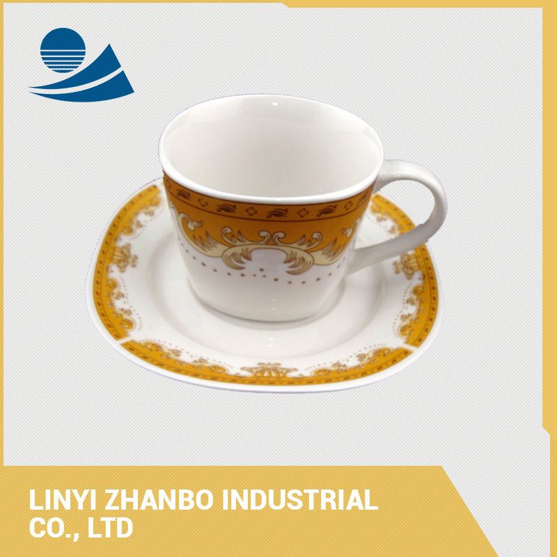 Custom printed tea cups and saucers wholesale