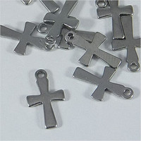 Yiwu Aceon Stainless Steel Cross Stamping Blank Pendant Charm