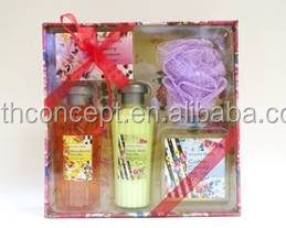 OEM/ODM 2017 hot sale vanilla SPA bath gift set