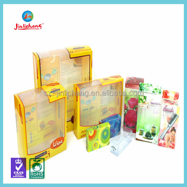 Custom Clear PVC Plastic Packaging Boxes, window box Retail Packaging