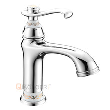 China supplier single handle copper bathroom tap for wash basin