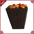 Wholesale Custom-made washable Plastic Rattan Storage Baskets durable Supermarket Display Rattan Baskets