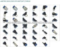 pneumatic fittings compact push in fittings