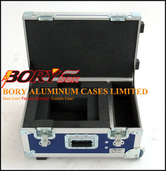 Protective aluminum small equipment coffin flight case with EVA cutting foam