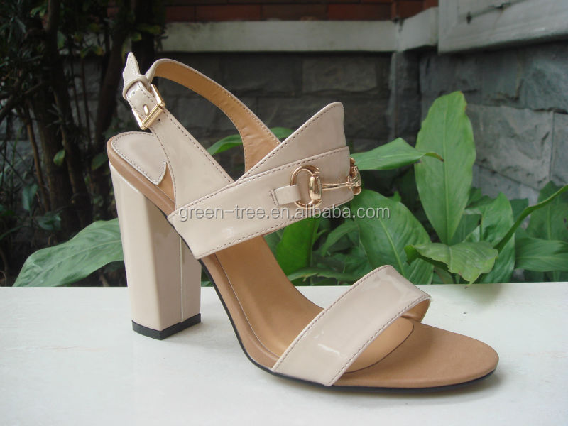 High quality heel sandal shoe pu footwear manufacturer