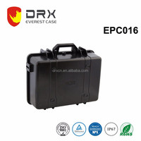 Plastic protective carrying waterproof equipment case with handle and foam