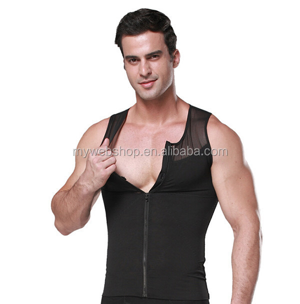 Strong control men's ultra-thin nets yarn waist corset,reducing belly fat vest