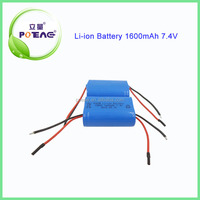 18500 7.4v 1600mah lithium ion battery for rechargeable vacuum cleaner