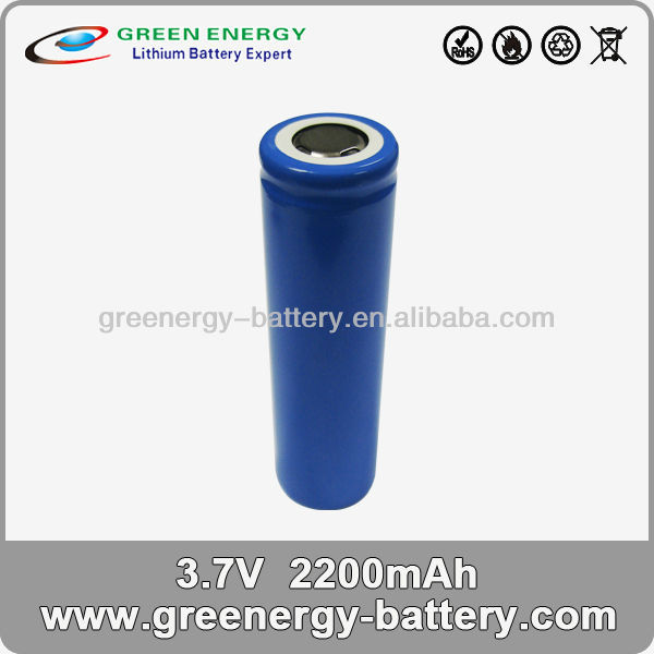 18650 li ion battery cell 3.7v 2.2ah 18650 single cell or pack