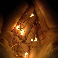 Wedding Decoration Battery operated Timer Holiday Living Led Copper Wire Christmas String Light