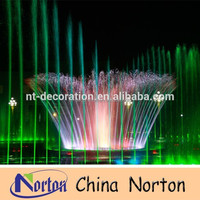 5m Musical dancing DMX control colorful light outdoor Square garden music water fountain NTMF-S235R