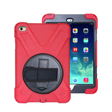 Rotating stand wrist strap tablet shell for iPad mini shockproof case