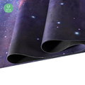 Organic Rubber Non Slip Microfiber Yoga Mat With Carrying Strap