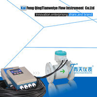 Remote type high temperature magnetic flow meter