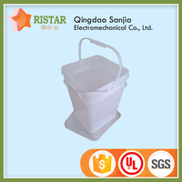 small folded water pail square plastic fishing bucket