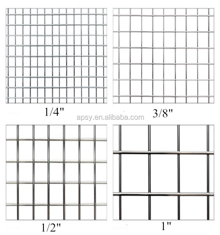 1 inch metal welded iron wire grid mesh fence panel/sheet