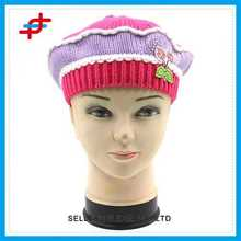 Embroidered Hat Crochet Hats with Tassel Promotional Hat