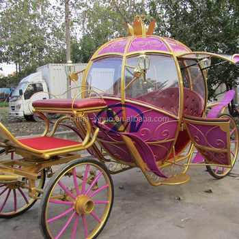 Wedding Pumpkin horse drawn wagon with cover with door
