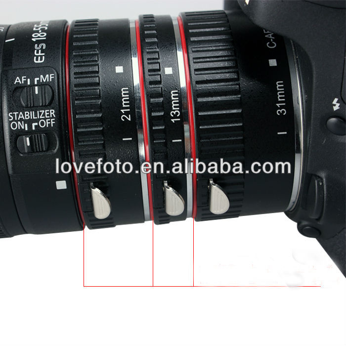 Metal Macro Extension Tube For Canon Camera Lens Professional