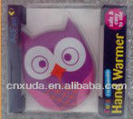 Owl look magic hand warmer with CE,SGS,MSDS,FDA,ROHS,REACH, used to warm body when in wild