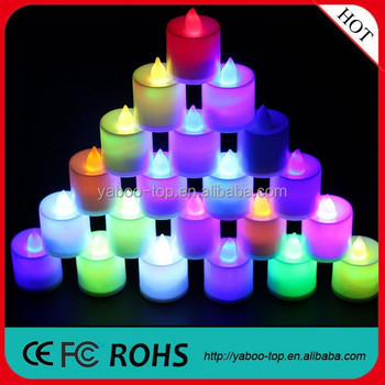 (Hot) 2018 Hot selling party decoration Muti-color birthday candle, tea light candle, led candle
