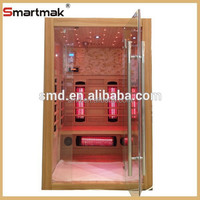 2015 new design red cedar dry sauna, luxury family healthy fir sauna room, Far Infrared Sauna Room With carbon fiber panel
