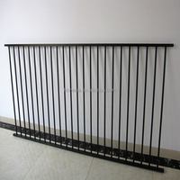 Flat top corrugated metal fence panels / Aluminum swimming pool fence