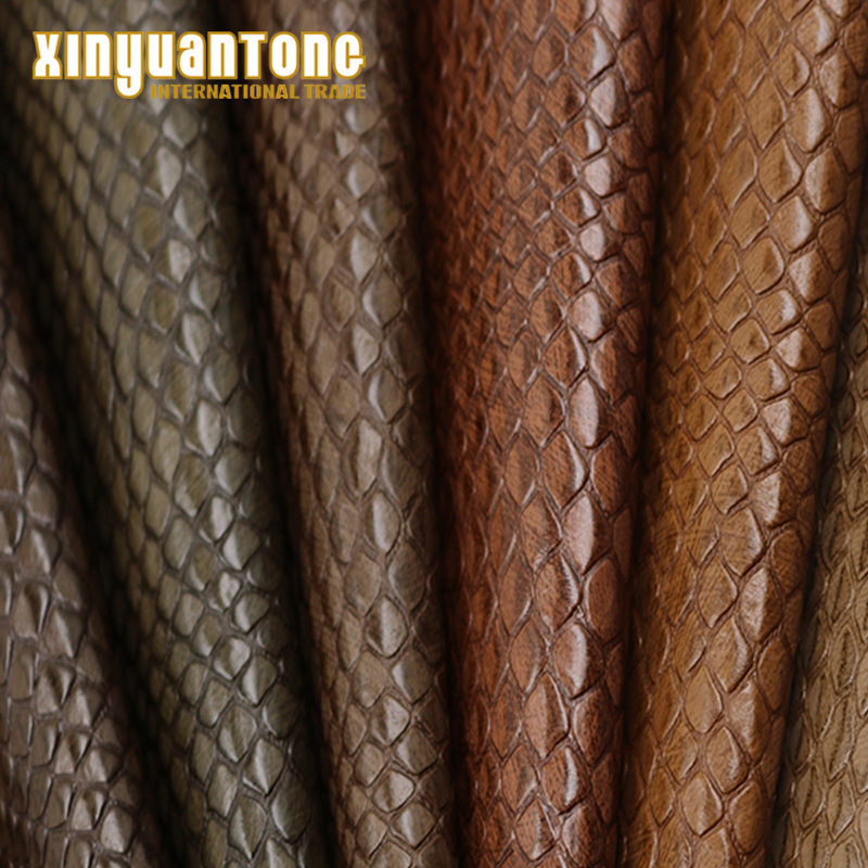 Snake Skin Artifical Embossed Imitation <strong>Leather</strong> used for car seat,Belt and so on