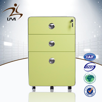 Alibaba china supplier mobile 3 drawer metal file cabinet / storage cupboard with drawers
