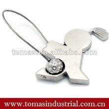Fashion magnetic metal steel wire golf key chain