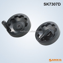 SK7307D Short insert inner corrugated handwheels with fold down handles