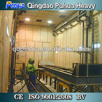 Sand Blasting Cabinet/Blasting Cleaning Booth For Large Steel Structure