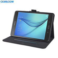 2018 new arrival OEM For Samsung Tab A 8.0 PU Leather Flip Tablet Cover Case With 3 Standing Stoppers