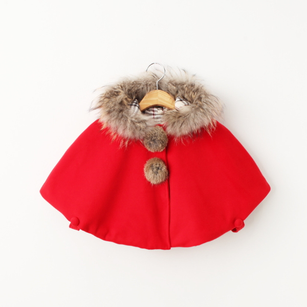 MS67763C fashion winter hot sale kids cape coats low moq clothes