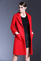 2016 New fashion high grade wool woolen coat women winter red coat