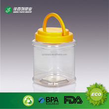 china popular plastic mason jar tumbler with straw and handle lid