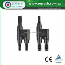 IP67 Solar PV T-Branch MC4 Connector Compatible TUV Certified