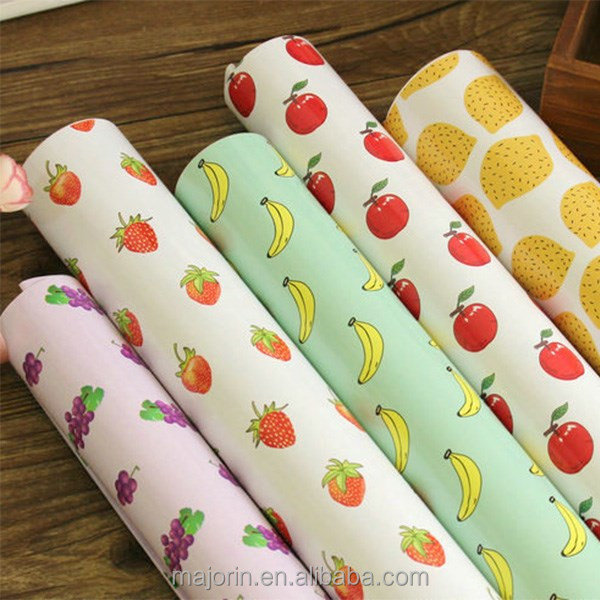 New design fruit pattern custom printed gift wrapping paper wholesale