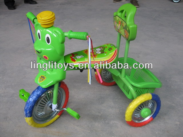 Made in china baby tricycle zhejiang ping hu new design plastic toy kids trike animal head shape tricycle pedal bike