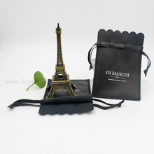 Natural material soft pu leather pouch bag drawstring for watch bracelets jewelry etc